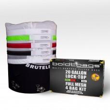 Lock Top – 20 Gallon Full Mesh Stackers 4 Bag Kit