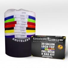 Lock Top – 30 Gallon Full Mesh Stackers 8 Bag Kit