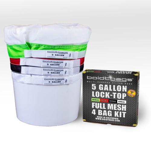 Lock Top – 5 Gallon Full Mesh Stackers 4 Bag Kit